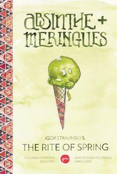Absinthe Poster - Jeni's Splendid Ice Creams