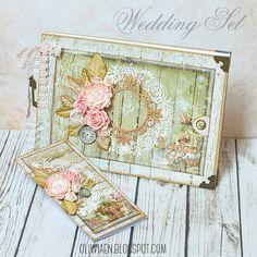 Ślubny zestaw prezentowy: księga gości i kartka;  http://polandhandmade.pl #polandhandmade , #scrapbooking , #księgagosci