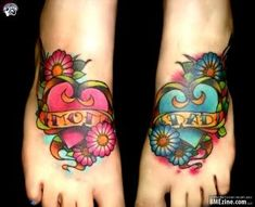I love this tattoo, but not on the feet, and with my kid's name instead