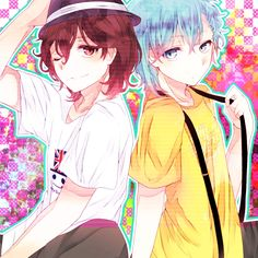 Uta no☆prince-sama♪, Mikaze Ai, Kotobuki Reiji, Suspenders, Checkered