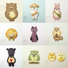 Adorable japanese biscuits