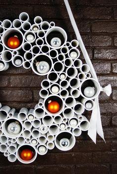Guirlanda de Natal de cano de PVC