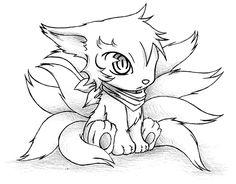 Boy Gumiho Chibi Ninetails Form by racoonloveglee.deviantart.com on @DeviantArt
