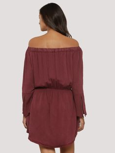 Buy Off Shoulder Dress For Women - Women's Wine Shift Dresses Online in India