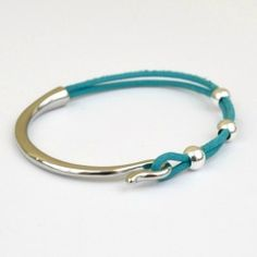 With some unique jewelry findings, you can make a great metal and leather bracelet in less than 10 minutes!