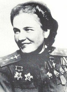 Nadezhda Popova, celebrated Soviet 'Night Witch' aviator of World War II One of the first women pilots. Flew 852 runs