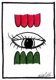 Dessin Tableau Singulier Pop Art Brut Sexy Femme Bouche Lips Peinture Abstrait
