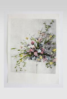 Assymetrical Gladioli  Deborah Bowness wallpaper