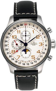 Zeno Watch Basel  Oversized OS Retro Chronograph Full Calendar Ref. 8557VKL-f2