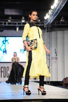 Stylish Black and Yellow