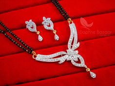 Daphne Zircon Studded Designer Mangalsutra for Women, Wedding Jewelry, Gift for Wife – Buy Indian Fashion Jewellery Diamond Mangalsutra, Gold Mangalsutra Designs, Wedding Jewellery Gifts, Wedding Jewelry, Cute Jewelry, Gold Jewelry, Gold Necklace, Pendant Necklace, Gifts For Wife