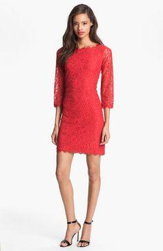 Diane von Furstenberg 'Zarita' Lace Sheath Dress available at Nordstrom..in white?