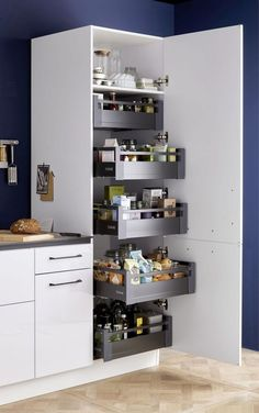 Funky Home Decor You should keep ., 56 Funky Home Decor You should keep ., 44 Clever Kitchen Storage Ideas and Trends for 2019 33 gorgeous kitchen design ideas 13 Kitchen Pantry Design, Diy Kitchen Storage, Kitchen Cupboards, Modern Kitchen Design, Interior Design Kitchen, Bathroom Storage, Kitchen Organization, Organization Ideas, Kitchen Cleaning