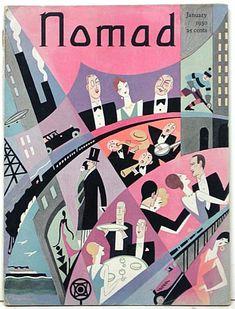 Nomad cover, January 1930. Artist: H O Hofman