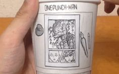 One-Punch Man Goes On A Paper Cup Adventure