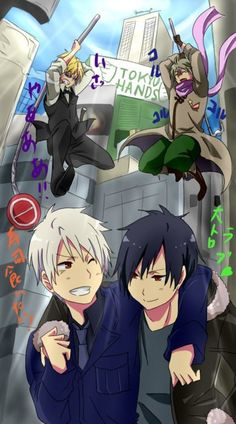 Awesome cross-over!!! It's funny cause' Russia's always trying to kill Prussia and Shizuo is always trying to kill Izaya!
