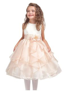>> Click to Buy << 2015 Elegant A -line and knee length flower girl dresses for weddings, layered and unique handmade flower design #Affiliate