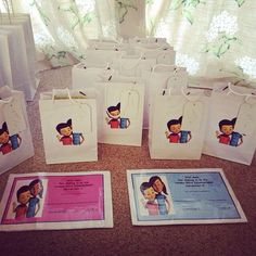 Our certificates and goodie bags that my girls made for all the kids in our congregation that went to twickenham convention