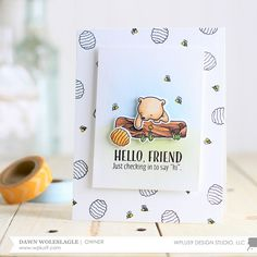"""Curious Forest Friends"" is a 4 x 6"" stamp set illustrated by Stephany Zerbe.  It contains 18 individual stamps;  15 images and 3 sentiments.   These…"