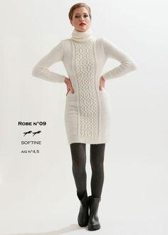 3134b2e56e26 Modèle de tricot - Robe femme - Catalogue Cheval Blanc n°21 - Laine utilisée