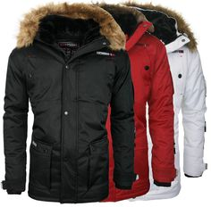 Geographical norway anaconda herren winterjacke parker parka mantel