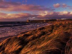 Portballintrae Beach Autumn sunset