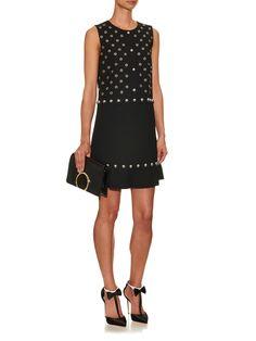 Stud and eyelet embellished dress   REDValentino   MATCHESFASHION.COM US