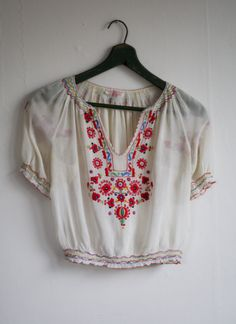 1930's Hungarian Blouse