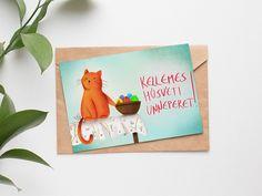 """Húsvéti """"morcos macska"""" képeslap (INGYENES) - Gallay-Nagy Krisztina grafikus, illusztrátor"""