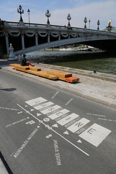 Street-based signage at Berges de Seine. Visit the slowottawa.ca boards  http://www.pinterest.com/slowottawa/