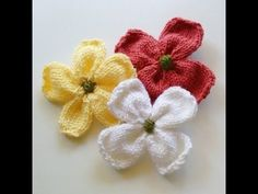 Knitted Dogwood Blossoms - Purl Avenue