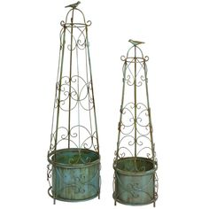 2 Piece Charlotte Topiary Stand Set