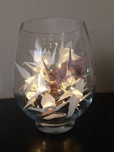 Origami Crane Fairy Lights  20 LED's/10 by OrigamiCraneLights                                                                                                                                                                                 More