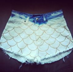 Scalloped High-Waisted Shorts by NovaClothing available on Etsy