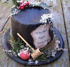 Primitive SNOWMAN HAT Winter Christmas Holiday Decor Frosty the Snow man Made out of a coffee can - tree topper? Primitive Christmas, Country Christmas, Christmas Snowman, Winter Christmas, Christmas Holidays, Christmas Wreaths, Winter Holidays, Christmas Projects, Christmas Crafts