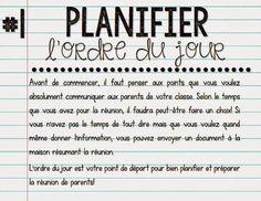 La classe de Karine: Rencontre de parents Teacher Binder, Classroom Management, Math, Words, Hui, Quinoa, Learning French, Exercises, Parents Meeting