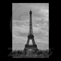 black and white eiffel poster from Zazzle.com