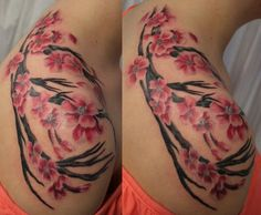 japanese cherry blossom tattoos | Of course.... the Japanese cherry blossom... also visually stimulating ...