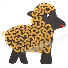 Macaroni Sheep Picture - How to Make Macaroni Art Projects with Children Macaroni Art, Macaroni Crafts, Pasta Crafts, Animal Crafts For Kids, Craft Activities For Kids, Toddler Crafts, Art For Kids, Preschool Crafts, Kids Crafts