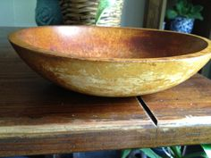 Primitive Munising Wooden Dough Bowl by VintageFunkHouser on Etsy, $30.00
