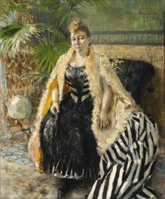 Akseli Gallen-Kallela, Parisienne oil on canvas, 46 x 37 cm, Private collection. Google Art Project, Academic Art, Donia, Nordic Art, Art Database, Art Google, Great Artists, Female Art, Art For Sale