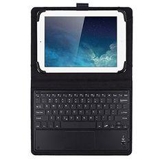 1d4b7ec212b JETech Funda con Teclado Bluetooth Inalámbrico Funda de Cuero con Teclado  con Touchpad para Tablet PC