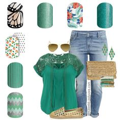 Spring/Summer 2016 Green Grass- Jamberry Nail wraps from bottom left to top right: Ferris Wheel, Patina, Peaches & Cream, Butterfly Dream, Hint of Mint, Island Dream, and Jaded. Emily Nelson-Jamberry Independent Consultant https://enchantingjams.jamberry.com/us/en/