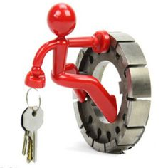 Creative Gift Key Pete Doorman Magnetic Keychain  www.bizarrestuffs.com