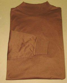 New CARNOUSTIE Long Sleeve Mock Golf Shirt Sz XL -  Brown - Pasatiempo GC - CA #Carnoustie #Turtleneck