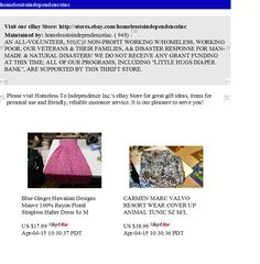 """Homeless To Independence Inc.'s """"House of Hope"""" eBay Thrift Store Flyer for March 6th, 2015...   Thank you for supporting Homeless To Independence Inc.!"""