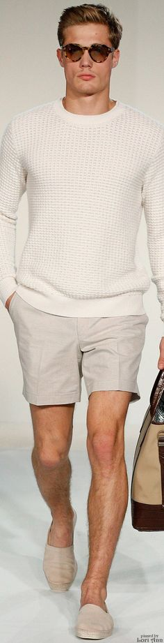 Gieves & Hawkes 2015 | Men's Fashion | Menswear | Men's Casual Outfit for Spring/Summer | Neutral Colors | Moda Masculina | Shop at designerclothingfans.con