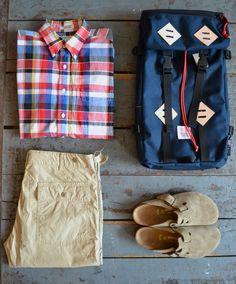 Engineered Garments - 19th Century Shirt Topo Designs - Klettersack Engineered Garments - Fatigue Pants Birkenstocks - Boston