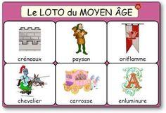 Le loto du Moyen Âge vous emmènera au temps des chevaliers, des châteaux forts et des princesses. Ce loto du Moyen Âge permet de travailler vocabulaire et langage