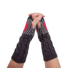 Heart Fingerless Gloves in Grey, 45% discount @ PatPat Mom Baby Shopping App